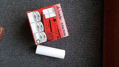 6 Rollen Thermopapier Für Telefax -216 Mm Breit - 50 Meter - Originalverpackt