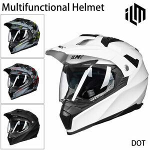 ILM Off Road Motorcycle Dual Sport Helmet Full Face Sun Visor Dirt Bike ATV DOT