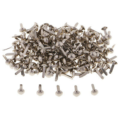 400pcs Heart Metal Brads Paper Fastener for Scrapbooking Paper Craft 9mm