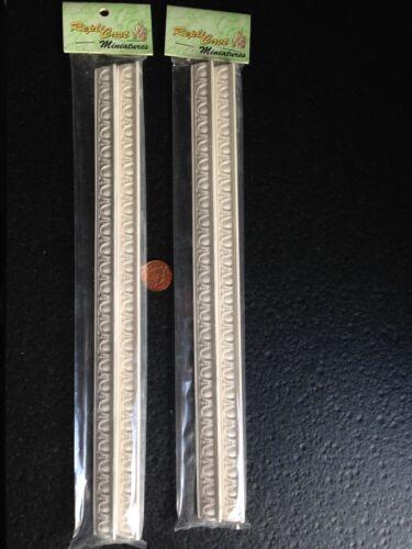 MN12 paquete de 4 Huevo /& DART Yeso Decoraciones-replicast Miniaturas Casa De Muñecas