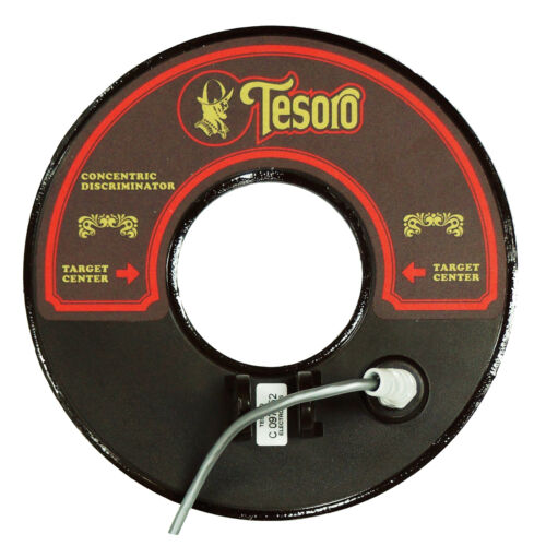 """environ 2.44 m Tesoro 8/"""" ronds concentriques Recherche Coil avec 8 FT de long câble marron 8RC-LB-D"""