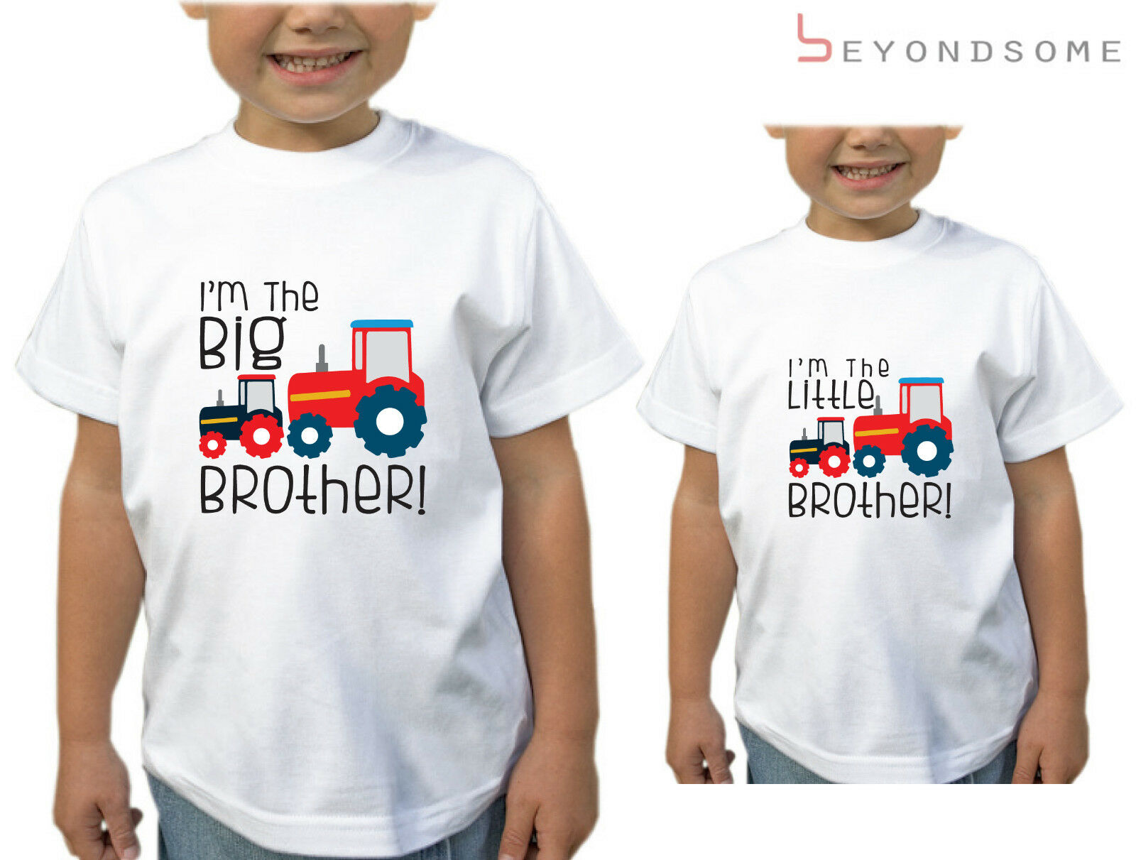 BOYS I/'M GOING TO BE A BIG BROTHER TRACTORS DESIGN T-SHIRT CHILDRENS TSHIRT GIFT