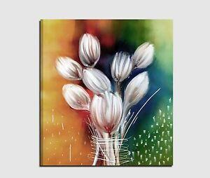 Quadri moderni astratti dipinti a mano su tela con fiori per salone o cucina ebay - Dipinti moderni per cucina ...