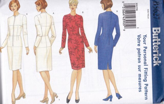Butterick Sewing Pattern Misses' Fitting Shell & Dress Sizes 8 - 22 B5627