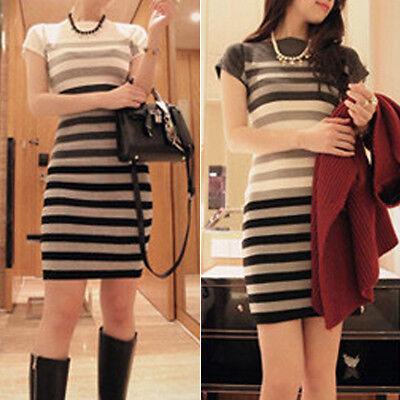 2014 Autumn Winter New Graceful OL Fashion Womens Short Sleeve Pencil Dress