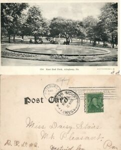 ALLEGHENY-PA-EAST-END-PARK-1906-UNDIVIDED-ANTIQUE-POSTCARD