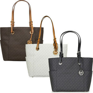 7175cbe7342d Image is loading Michael-Kors-Jet-Set-Travel-Monogram-Logo-Tote-