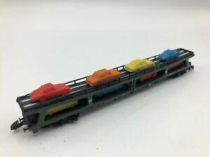 Marklin-Z-Scale-Mini-Club-8714-Auto-Transport-Carrier-with-8-Cars-DB