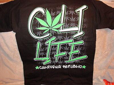 large medium Cali Life California Republic Bear Weed Top  T-Shirt small