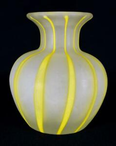 Vintage-Murano-Sommerso-A-Canne-Glass-Vase-c1980s