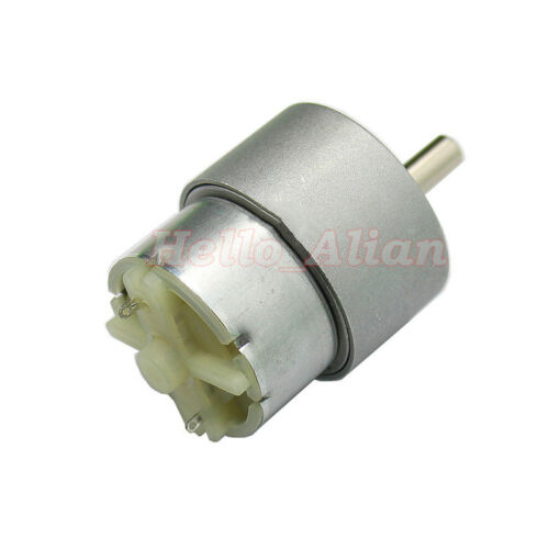 37mm DC 6V 12V 640RPM Large Torque Full Metal Gear Box Electric Motor Slow Speed