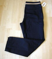 British Khaki Womens Navy Blue Pants Size 10 Cotton Blend
