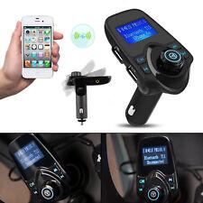 FM Transmitter Bluetooth Auto Car Kit KFZ Radio Musik MP3 Player AUX 2 USB SD DE