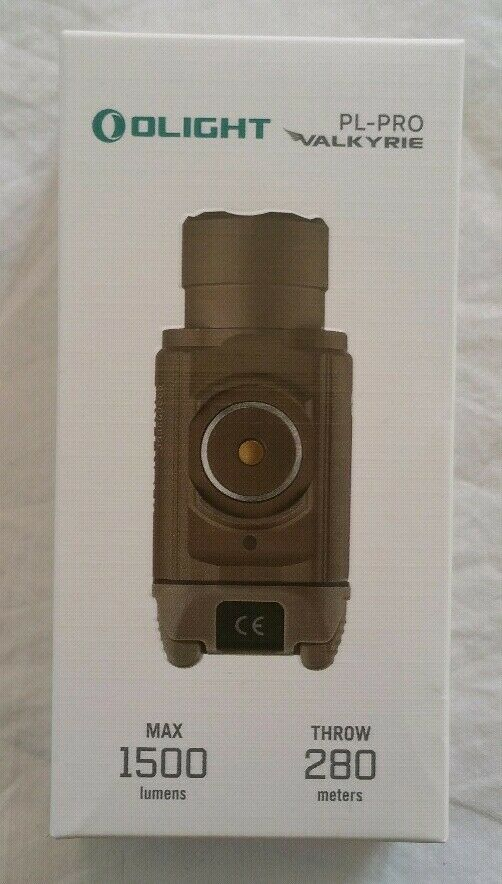 Olight PL Pro Valkyrie weapon light desert tan 1500 lumen rechargeable li ion