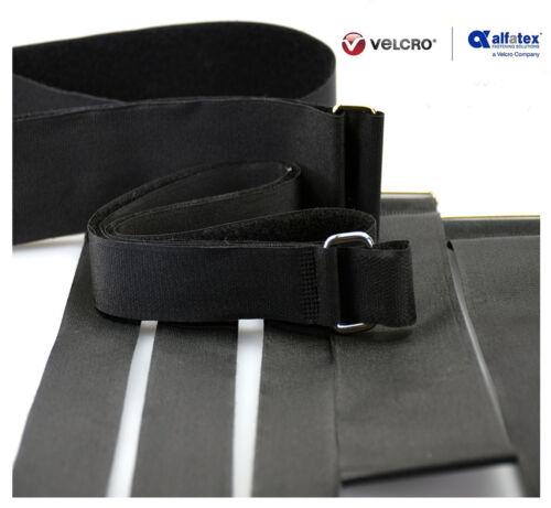 Alfatex® by Velcro® Brand Heavy Duty Metal Buckle Adjustable Velcro Strap