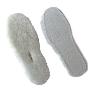 1 Pair Natural Sheep Wool Insoles Boots Pad Adult Kids
