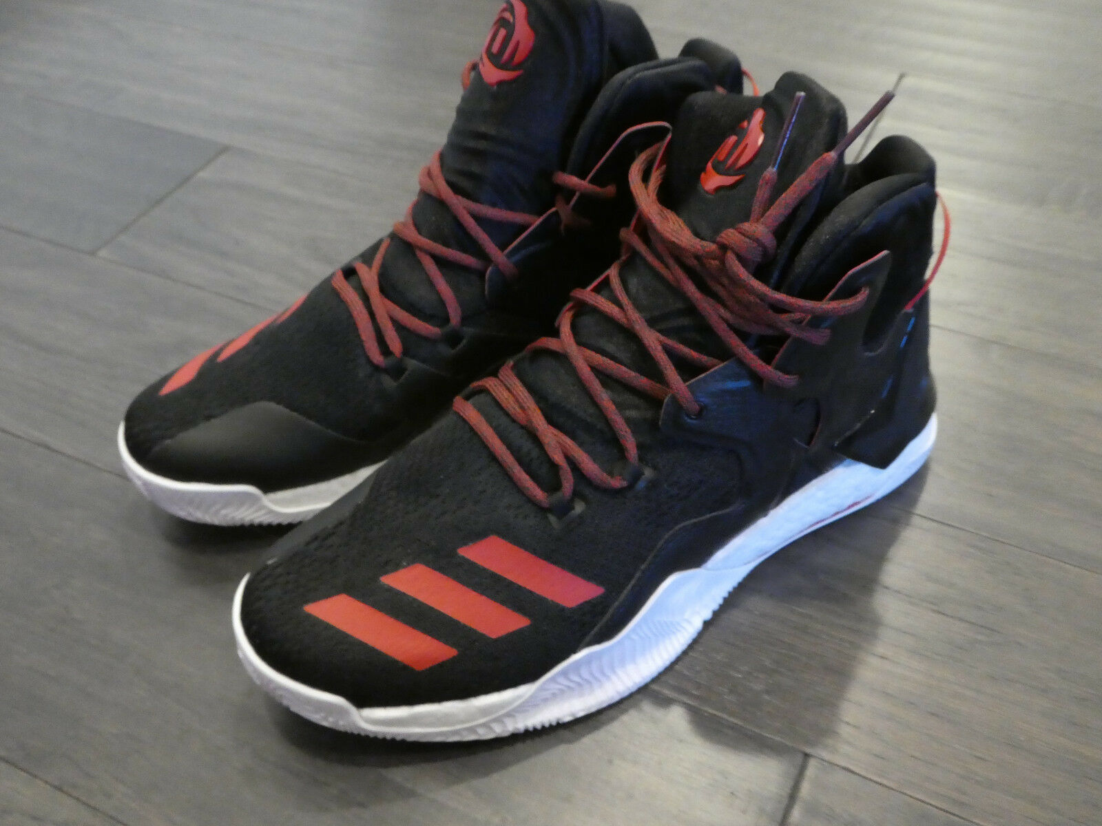 Adidas D Rose 7 shoes sneakers basketball B54133 black red size 12