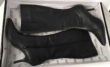 COLIN STUART for Victorias Secret Black Leather Stiletto Zip Knee High Boots 10B