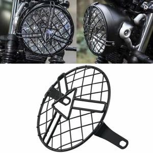 Headlight-Protector-Cover-Retro-Metal-Grill-for-Chopper-Triumph-Suzuki-Kawasaki