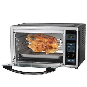 Gourmetmaxx-infrarouge-four-Ecran-Numerique-Argent-28L-Volume-poule-frire-PIZZA