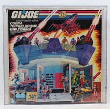 VINTAGE HASBRO GI JOE COBRA TERROR DROME Playset w/ FIREBAT-SEALED-CAS GRADED 75