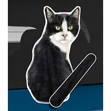 Tuxedo Cat and animal rear window wiper sticker - 10 inches tall