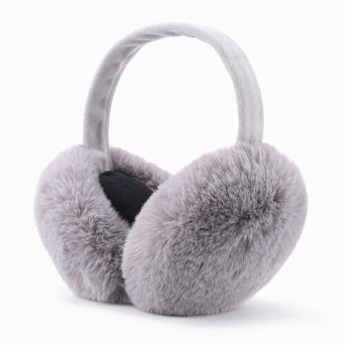 Faux Fur Solid Earmuffs Women Winter Ear Warmers Foldable Fluffy Plush Ear Muffs