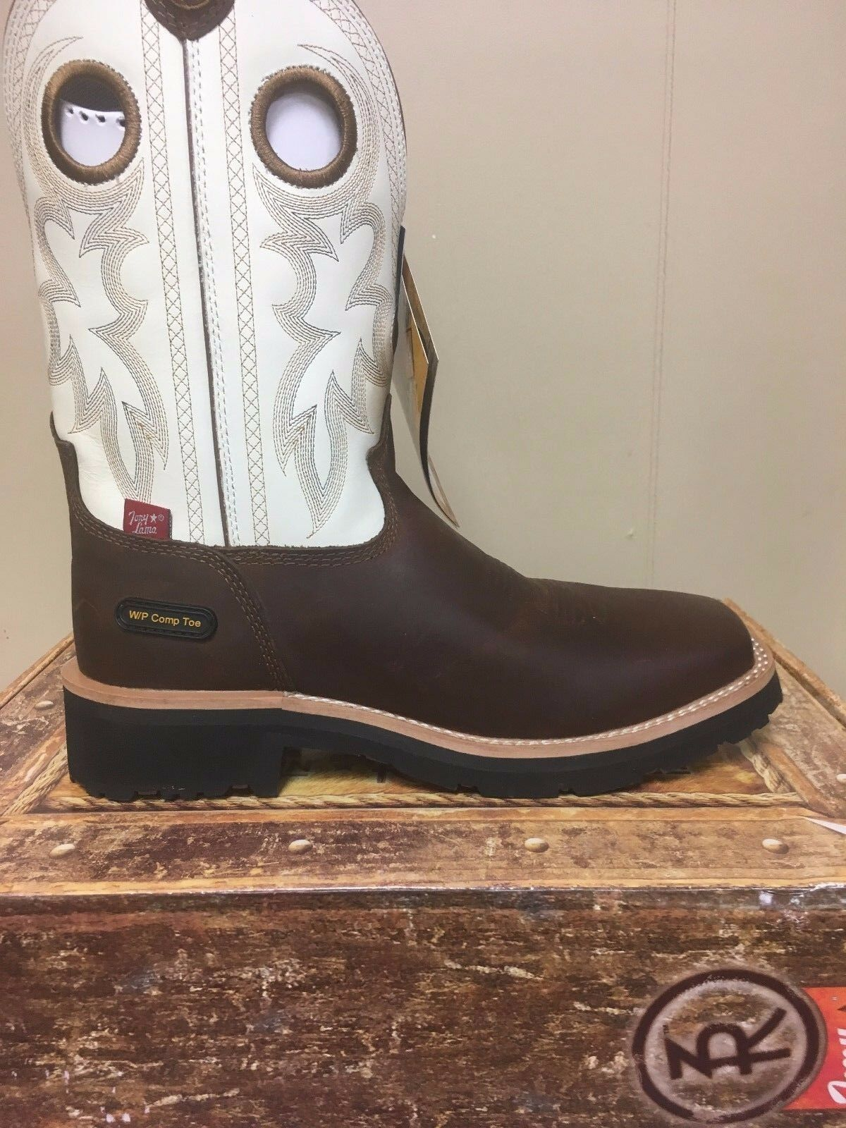 Mens Tony Lama Composite Square toe waterproof work boots Style  RR3302