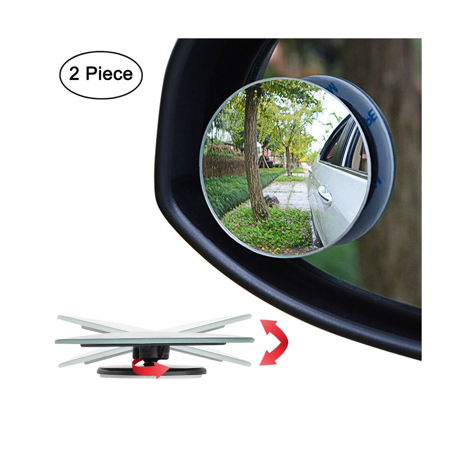 Adjustable 20°Rotate Wide Angle LKDEPO Reusable Car Blind Spot ...