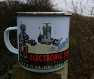 Nouveau Émail Mug!!! Vintage Aeromodeller Mug Ed Moteurs Diesel