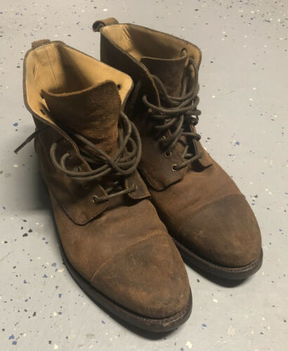 Taft Boot in Brown Sueded Leather Size 8 D