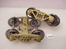 BRASS O American Scale Models A-3 Ride Control 70-Ton Freight Trucks #414