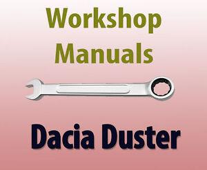 dacia duster workshop manual ebay rh ebay co uk dacia duster service manual pdf dacia duster 2016 service manual