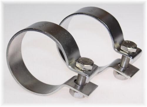 """2x BayWorld V2A Edelstahl 65,5mm DIN Schelle Breitbandklemme 2.55/"""" Industrie"""