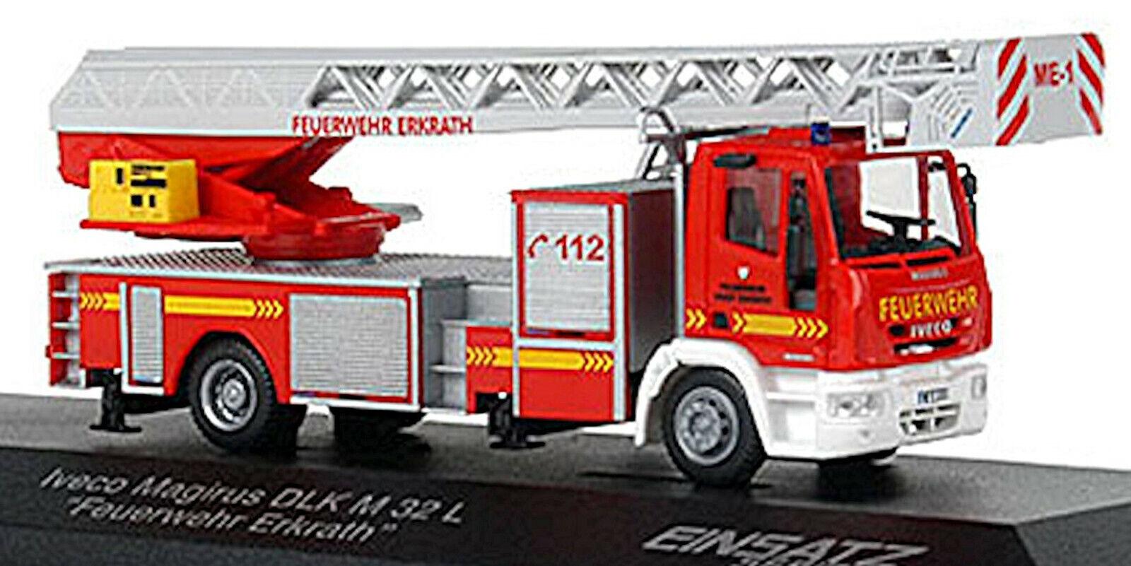 Iveco Magirus DLK M 32 L Feuerwehr Erkrath 1 87 Rietze 68518