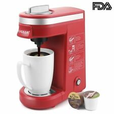 Chulux Single Cup Coffee Maker Travel Brewer for K-Cups, Red