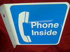 New Large Phone Inside Payphone Sign Payphones Telephone Pay Phone AT&T Western