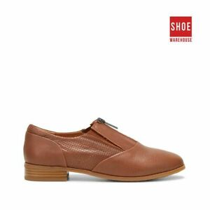 Hush Puppies LIZ Neutrals Womens ZIP Casual Leather Shoes