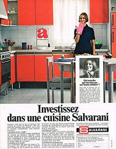 Détails sur PUBLICITE 1970 SALVARANI cuisines équipées