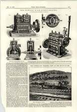 1889 Newall High-speed Engine Jf Blyth Handsaw Machine Sager Halifax