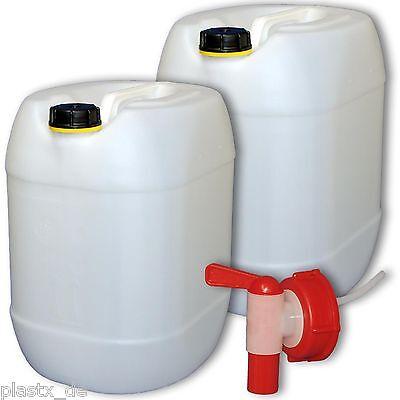 2x 30 L Wasserkanister mit Hahn kiste camping kanister