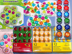 Pinnwand-Nadeln-Motiv-Pinns-Pinn-Nadeln-Pins-Pin-Stecknadeln-fuer-Memoboard