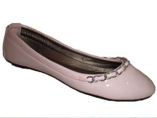 LADIES FLAT PATENT NUDE SHOES PUMPS WORK CASUAL EVENING SIZE UK 3 4 5 6 7 8 BNIB
