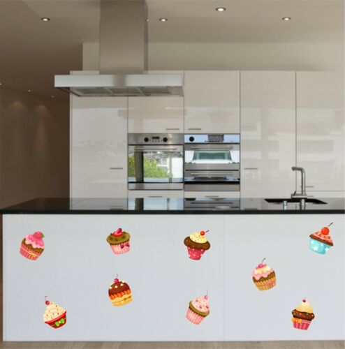 Kitchen Cupcakes Full Colour Cake Wall Sticker Art Vinyl Graphic k14 Decal