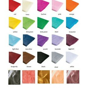 100-Yards-Organza-Fabric-Roll-60-inch-Wide-High-Quality-Sheer-100-Nylon-Wedding
