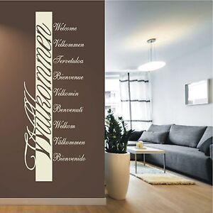 Das Bild Wird Geladen WANDTATTOO Wandaufkleber Wandsticker Willkommen  Sprachen Spruch Deko Flur