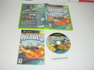 HEROES OF THE PACIFIC game complete case w/ manual for MICROSOFT XBOX