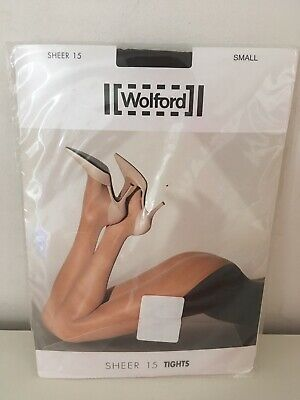 """Wolford /""""Sheer 15/"""" Tights Brand New"""