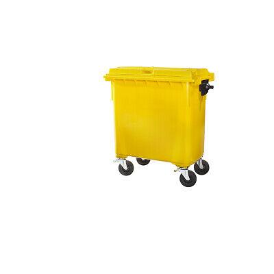 Nach Din En 840 Gelb Wohltuend FüR Das Sperma Ssi Schäfer Kunststoff-großmüllbehälter Volumen 660 L