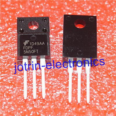 10pcs FDPF12N50T N-Channel MOSFET 500V 11.5A TO-220F